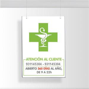 Portacarteles Farmacias y Perfumerías
