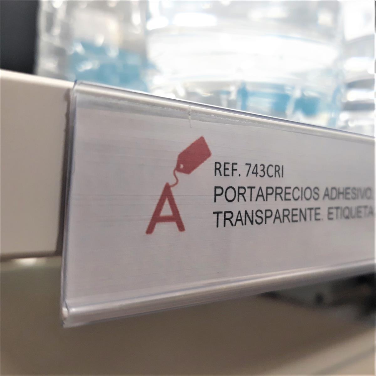 Abarnom 100 Unidades de Porta Etiquetas Autoadhesivas de 30mm de Alto 70mm de Largo Portaprecios Adhesivos Individuales de 70mm