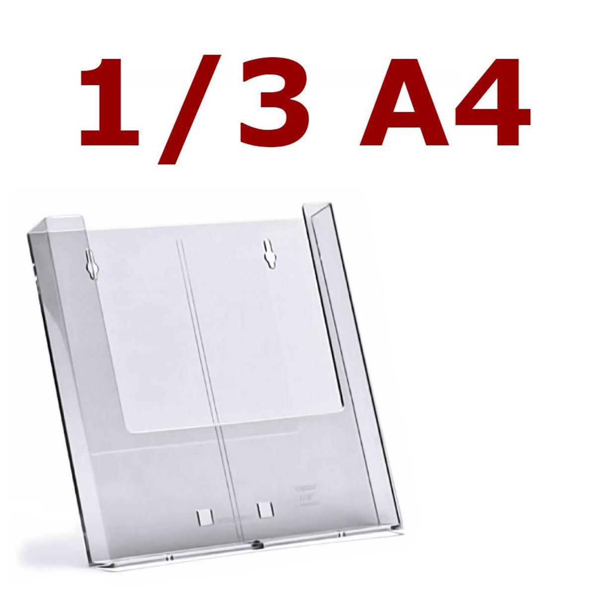 Abarnom Portafolletos 1//3 DIN a4 para mostrador y Pared