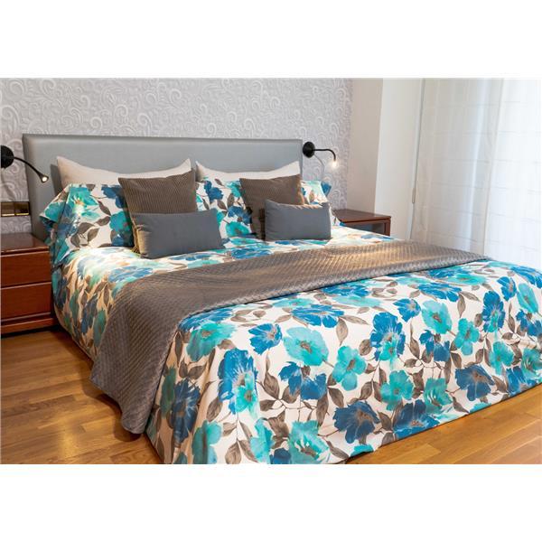 sábana flores turquesa, sábana turquesa, sábana flores azules