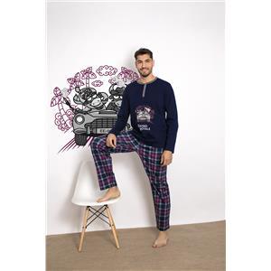 Pijama hombre Kukuxumusu kk-007 invierno Algodón 100%