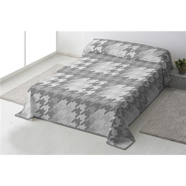 manta gris, manta matrimonio gris, manta individual gris, manta geométrica