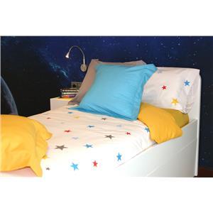 Juego de sábanas estampado infantil estrellas de colores