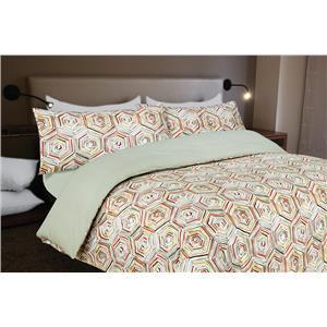Funda nórdica estampada geométrica multicolor algodón 100%
