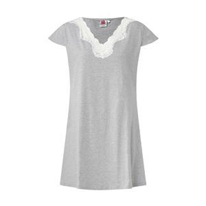 Camisola mujer gris con puntas de verano