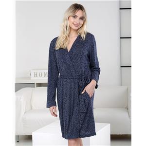 Bata mujer invierno azul homewear