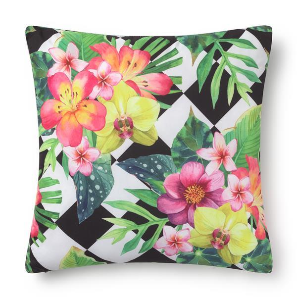 cojines estampado tropical, cojines estampados geometricos, estampado de cojines, cojines decorados con flores, cojines de clores