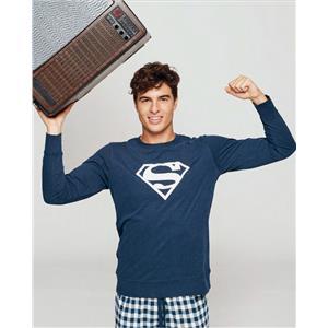 Pijama hombre Superman invierno Algodón 100%