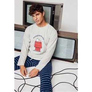 Pijama hombre Snoopy térmico coral