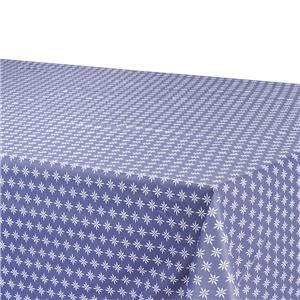 Mantel antimanchas geométrica azul