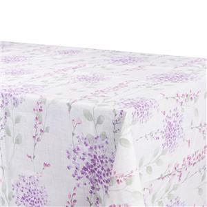 Mantel antimanchas flores lilas