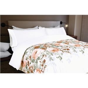 Funda nórdica estampada floral algodón 100%
