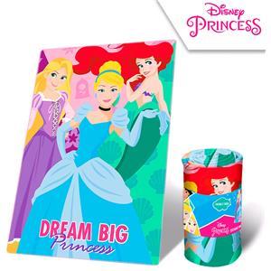 Manta plaid polar disney princesas Cenienta, Sirenita y Rapunzel