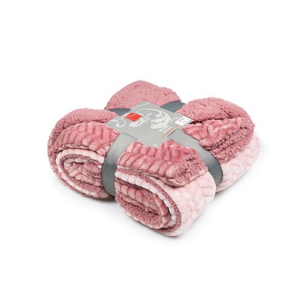 plaid rosa, manta rosa, manta borreguillo, manta pie de cama rosa, manta rosa, mantas calientes