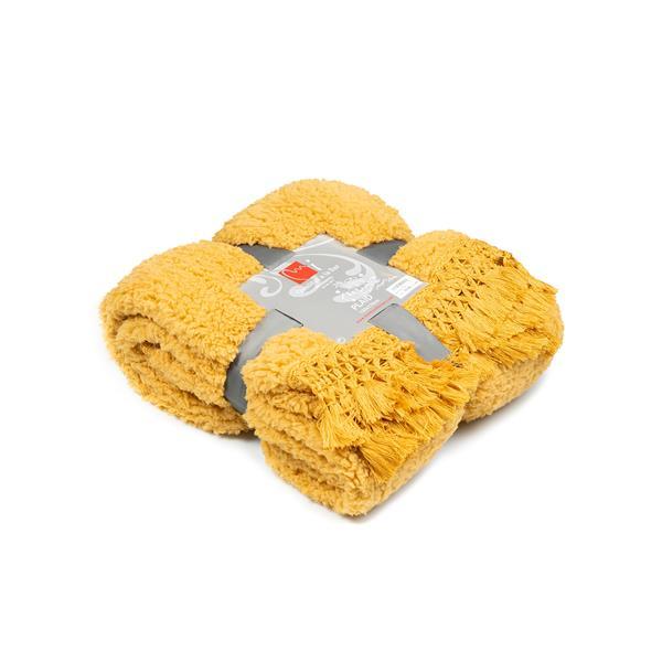 manta amarilla, manta amarilla mostaza, manta sofa amarilla, tienda de mantas, comprar manta online, mantas online