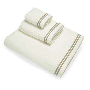 Juego toallas 3 piezas cenefa jacquard Algodón 100% 550gr