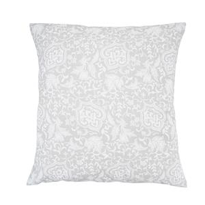 Cuadrante o cojín estampado ornamental gris sofá o cama