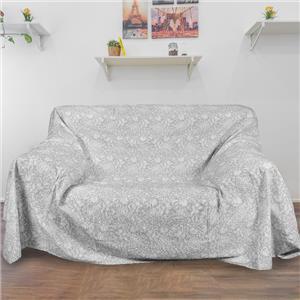 Colcha o foulard multifunción ornamental gris cama o sofá