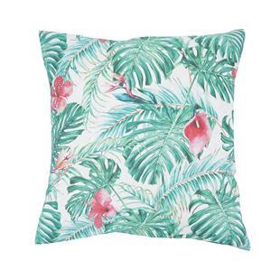 Cuadrante o cojín estampado tropical sofá o cama