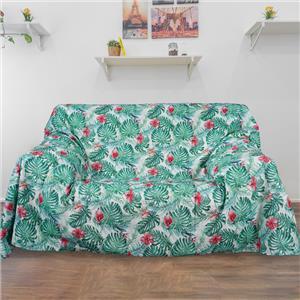 Colcha o foulard multifunción tropical cama o sofá