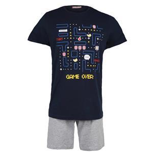 Pijama niño o chico azul marino verano Algodón 100%