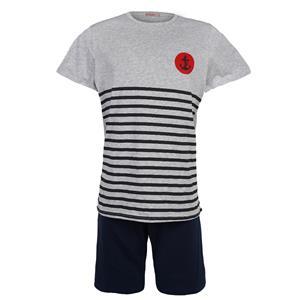Pijama hombre gris verano Algodón 100%