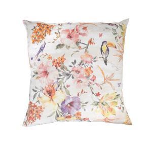 Cuadrante o cojín estampado floral sofá o cama