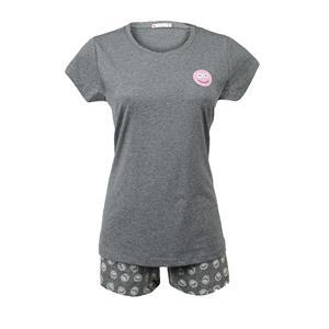 Pijama mujer gris verano