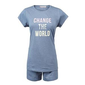 Pijama mujer azul verano