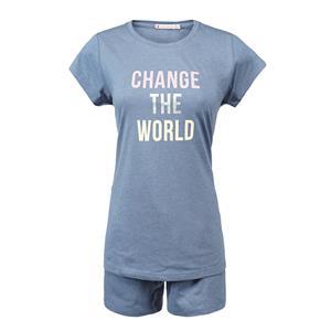 Pijama niña o chica azul verano