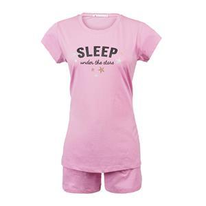 Pijama mujer rosa con estrellas verano