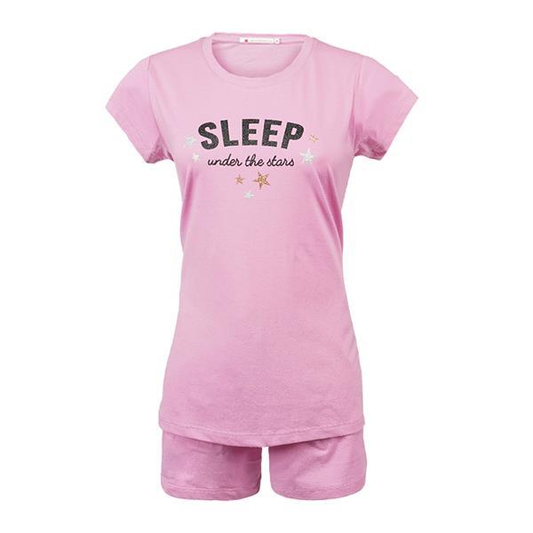 pijama dona rosa, pijama verano estrellas,pijama mujer rosa, pijama verano rosa