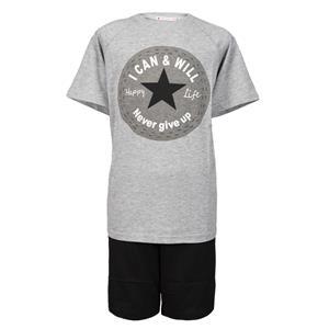 Pijama niño o chico gris verano