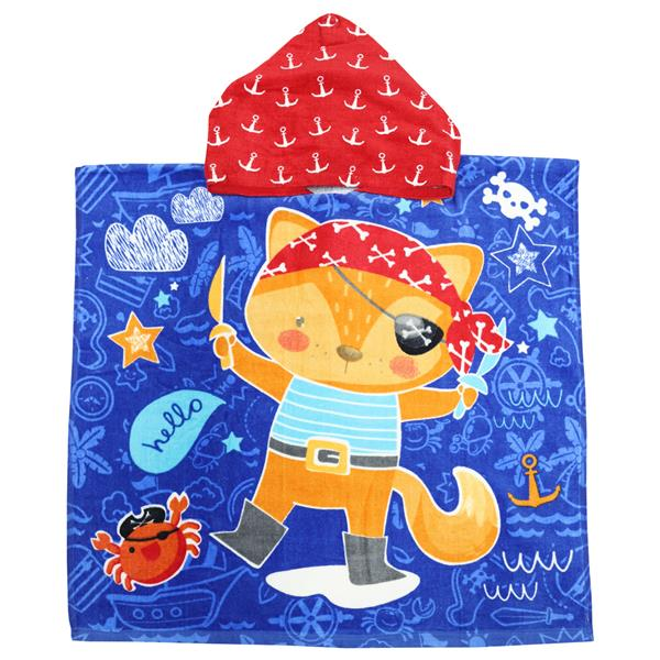 poncho animales, poncho infantil, toalla poncho animales, toalla poncho niño