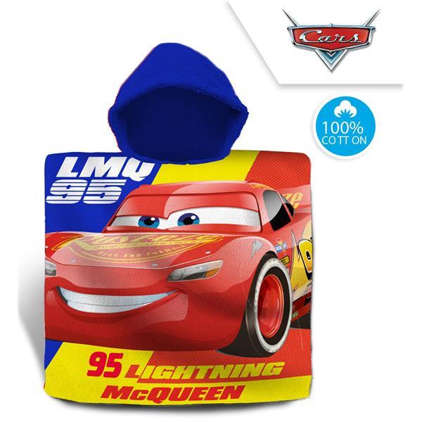 toalla poncho rayo mc queen, toalla poncho cars
