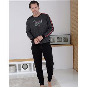 Pijama hombre oscuro invierno