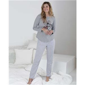 Pijama mujer gris invierno