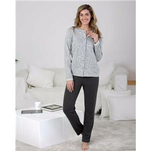 Pijama mujer abierto gris invierno