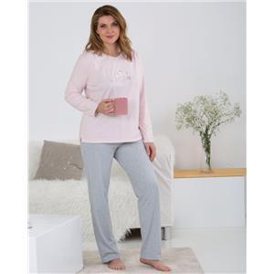Pijama mujer rosa invierno Algodón orgánico100%