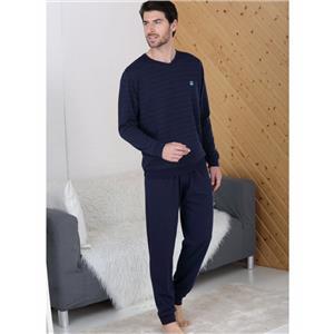 Pijama hombre marino invierno