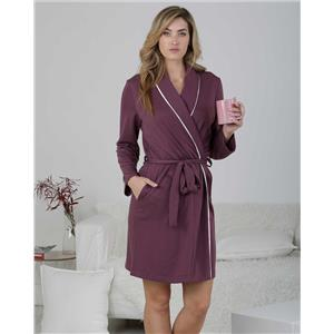 Bata mujer invierno púrpura homewear