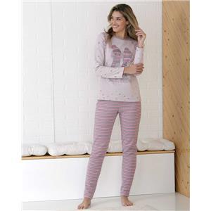 Pijama mujer rosa invierno