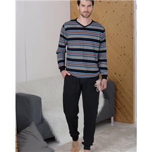 Pijama hombre rayas invierno