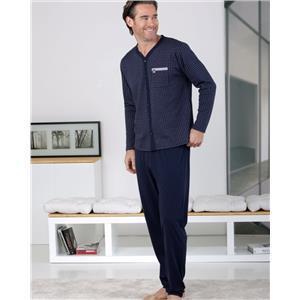 Pijama hombre abierto marino invierno
