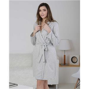 Bata mujer invierno gris homewear