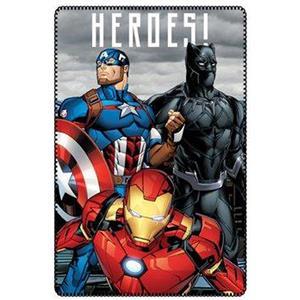 Manta plaid polar avengers (los vengadores) Iron Man, Black Panther y Capitán América