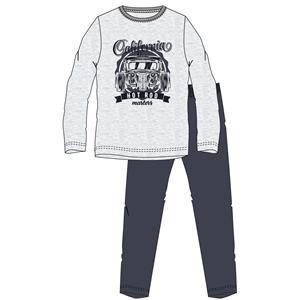 Pijama hombre gris invierno franela Algodón 100%