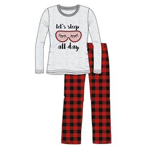 Pijama mujer o chica gris invierno franela Algodón 100%