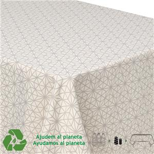 Mantel geométrico reciclado con botellas de plástico
