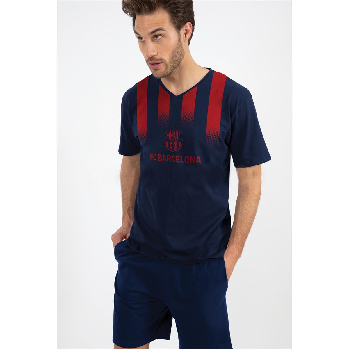 Pijama Fc Barcelona Verano De Hombre Tallas M L Xl Xxl Montse Interiors